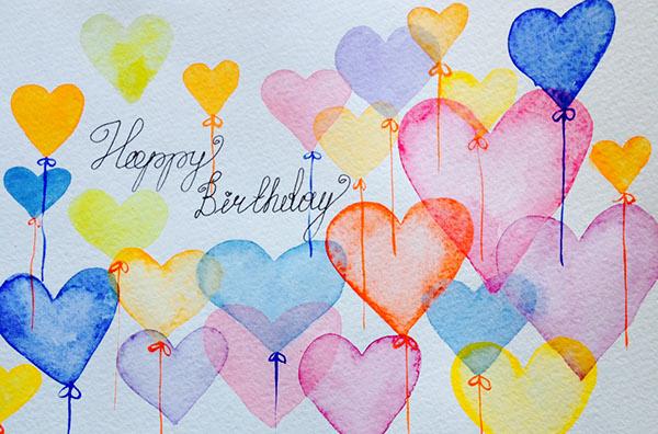 600x396 Watercolor Happy Birthday On Behance