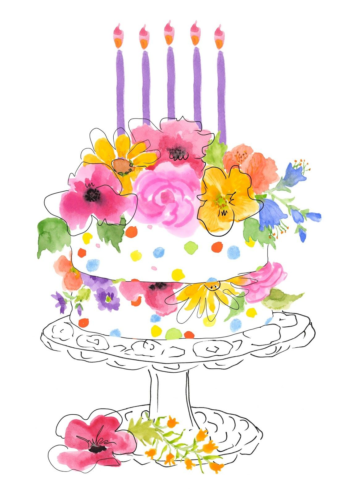1143x1600 Watercolor Birthday