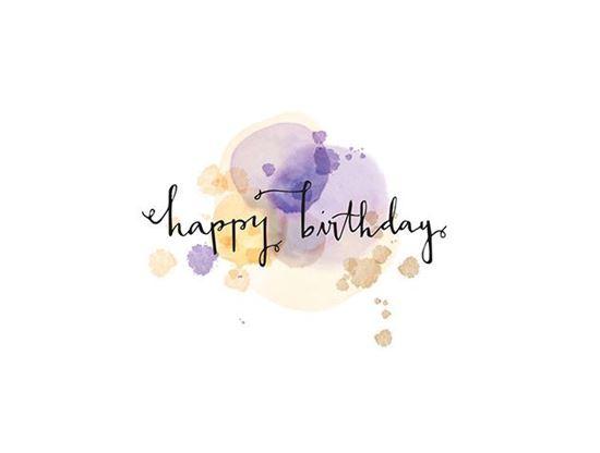 550x416 Atomic Envelopespurple Watercolor Script Happy Birthday