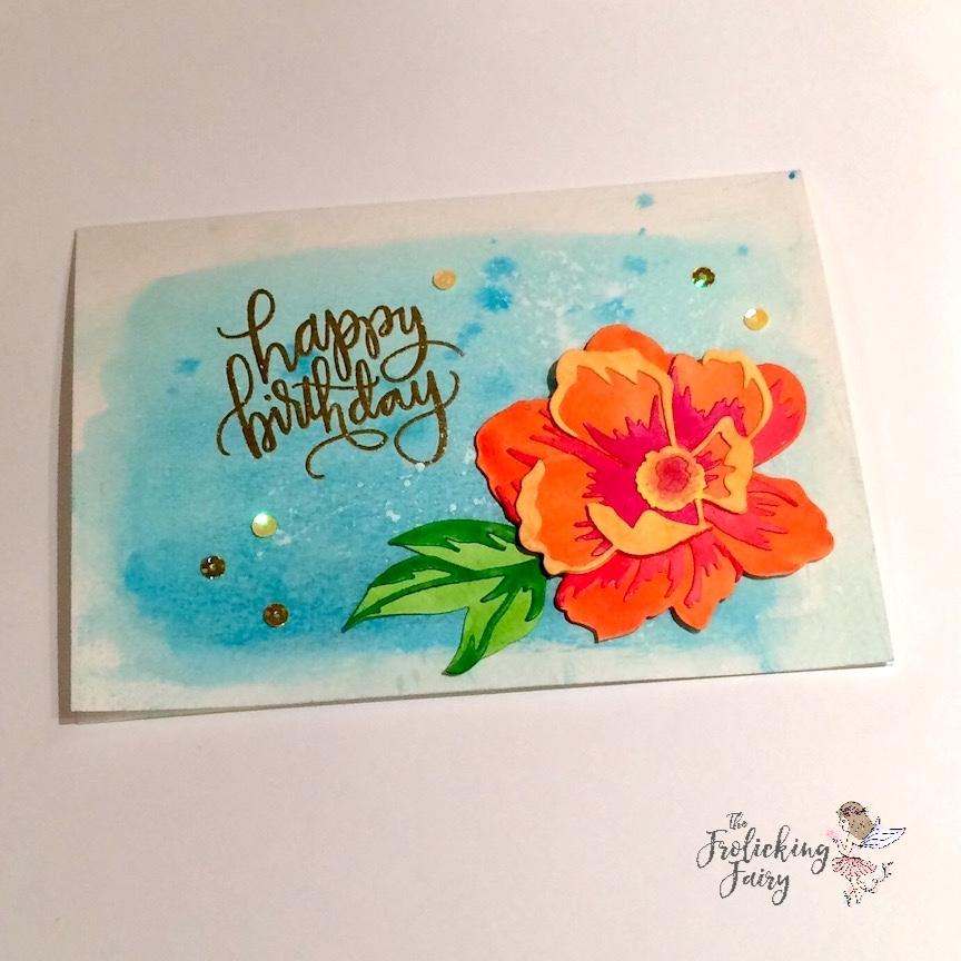 864x864 Birthday Watercolor Flower The Frolicking Fairy (And The Farting