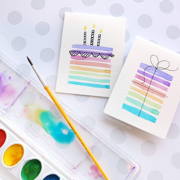 745x745 Easy Diy Birthday Cards Using Minimal Supplies Happy Birthday