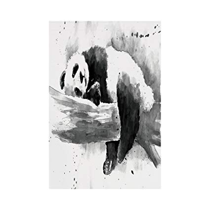 Black And White Watercolor Painting