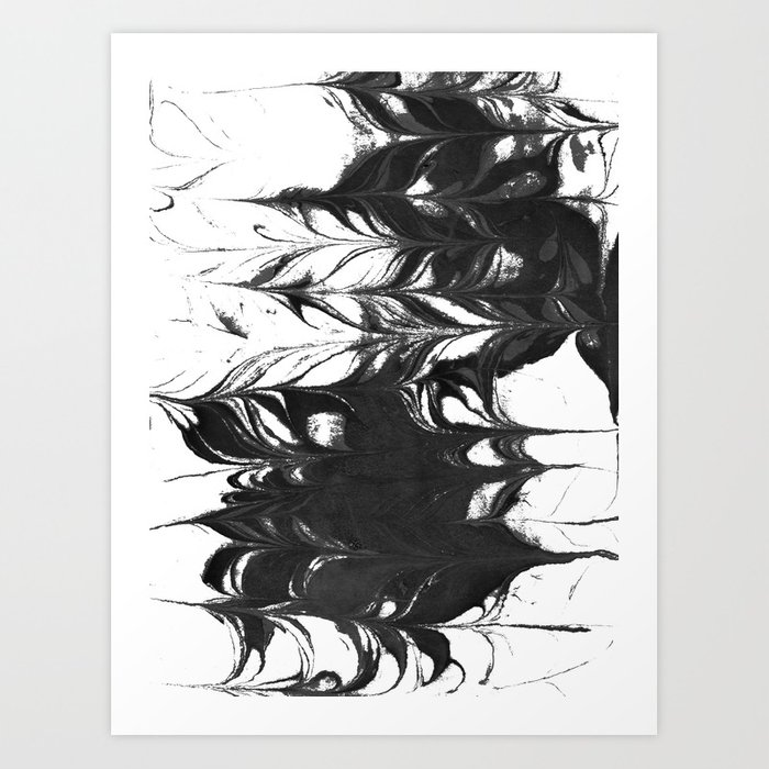 700x700 Suminagashi 2 Black And White Marble Spilled Ink Ocean Swirl