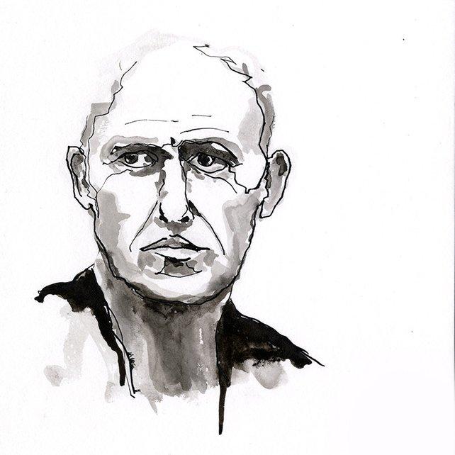 642x642 Black And White Fine Wall Art Original Watercolor Portrait Etsy