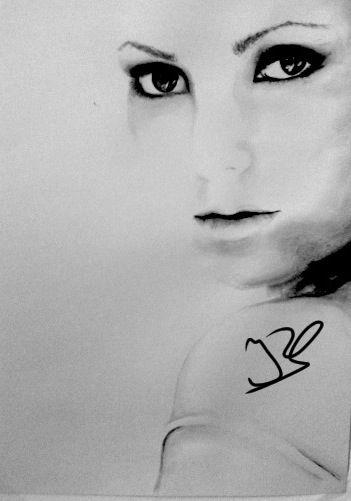 351x501 For Sale Black And White Portrait Watercolor By Irsart