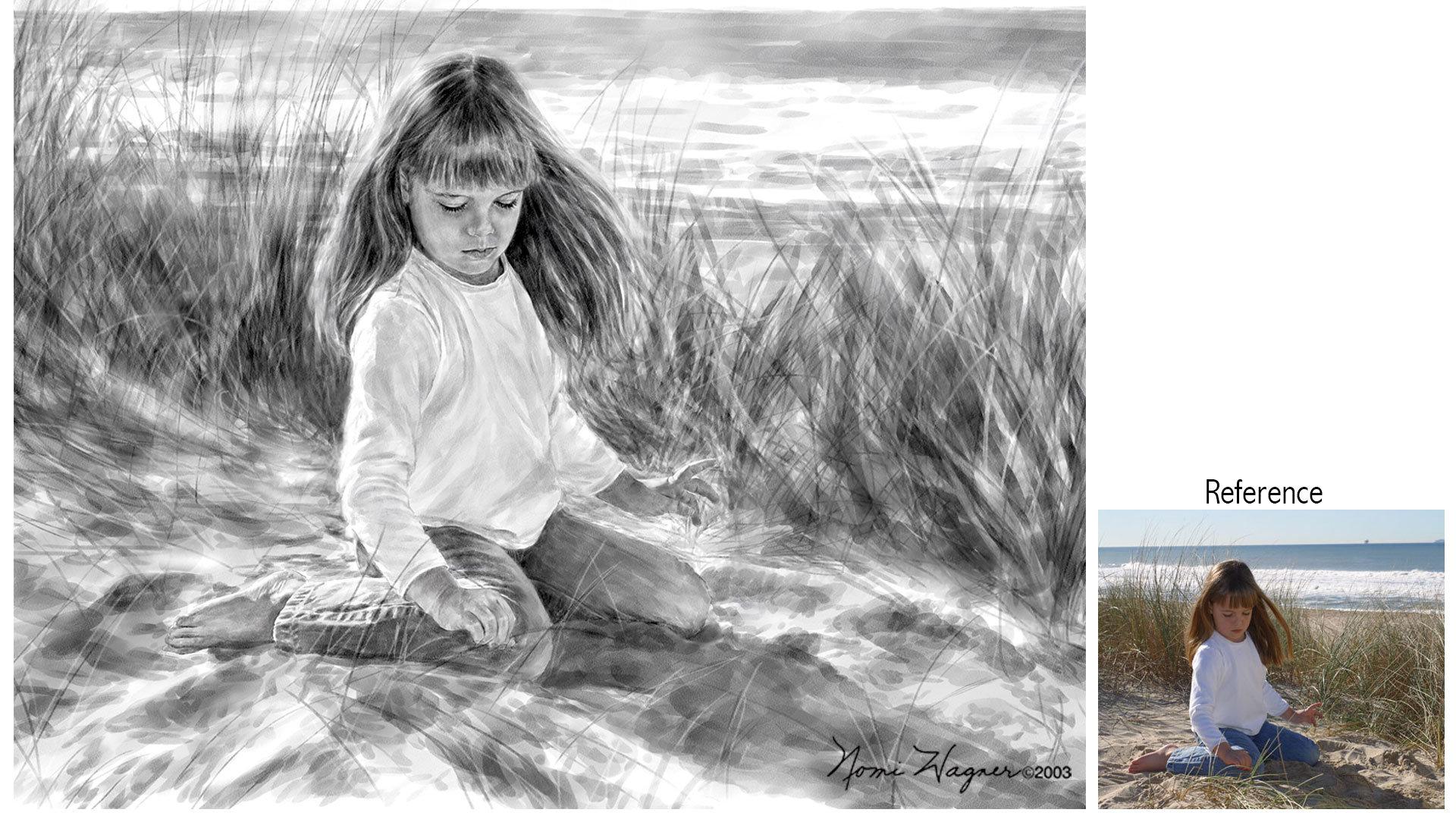 1920x1080 Portrait Painting Of Children, Watercolor Portraits, Portrait