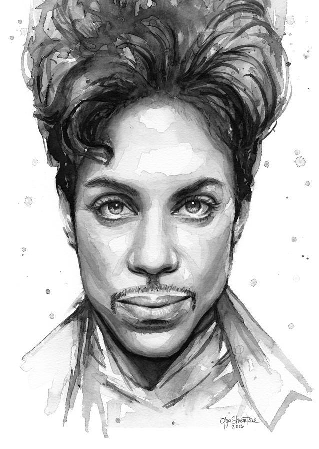 639x900 Prince Watercolor Portrait Painting By Olga Shvartsur