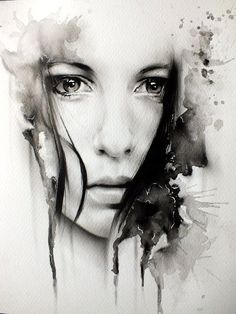 236x314 Black And White Water Color Portrait