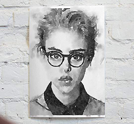 541x500 Watercolor Black And White Portrait