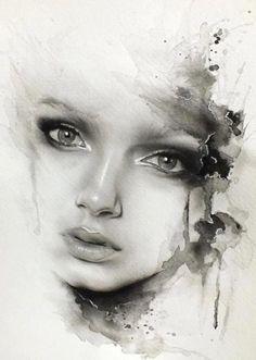 236x331 Artworks By Mekhz Portraits Artwork, Watercolor