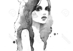300x210 Black And White Watercolor Paintings Painting Portrait