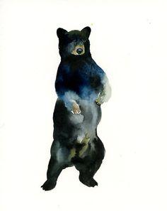 Black Bear Watercolor
