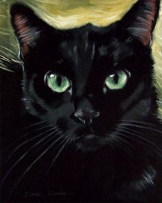 236x295 Black Cat Watercolor Painting Watercolor Portraits