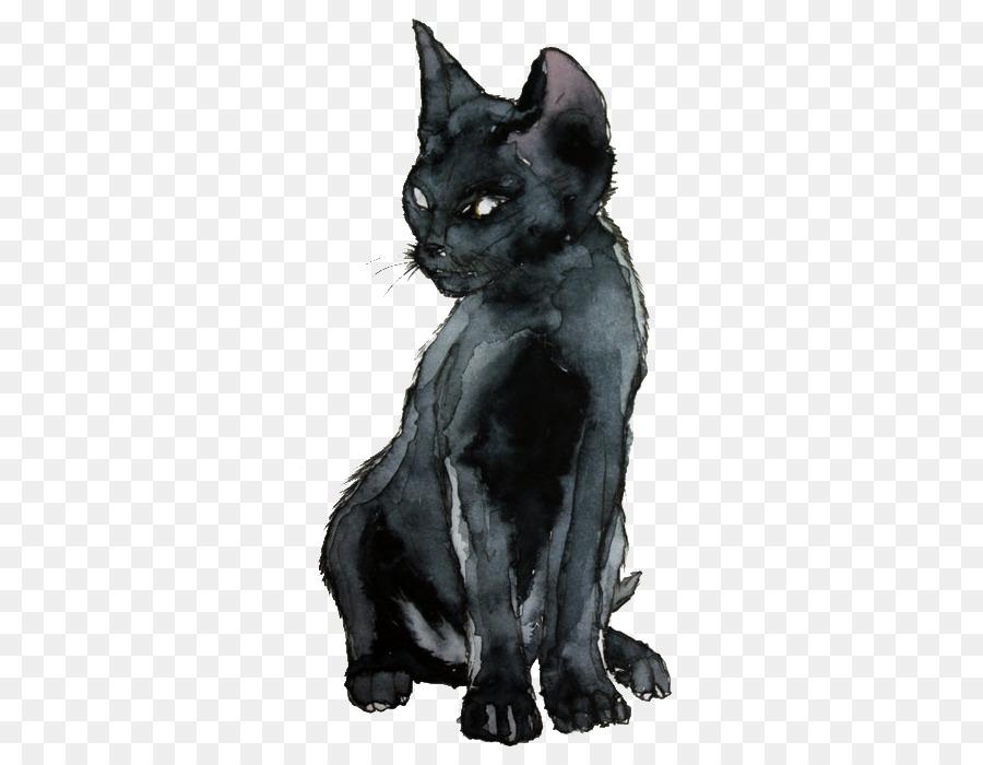 900x700 Kitten Sphynx Cat Black Cat Watercolor Painting Drawing
