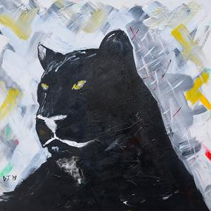 300x300 Black Panther Painting Art Pays Me