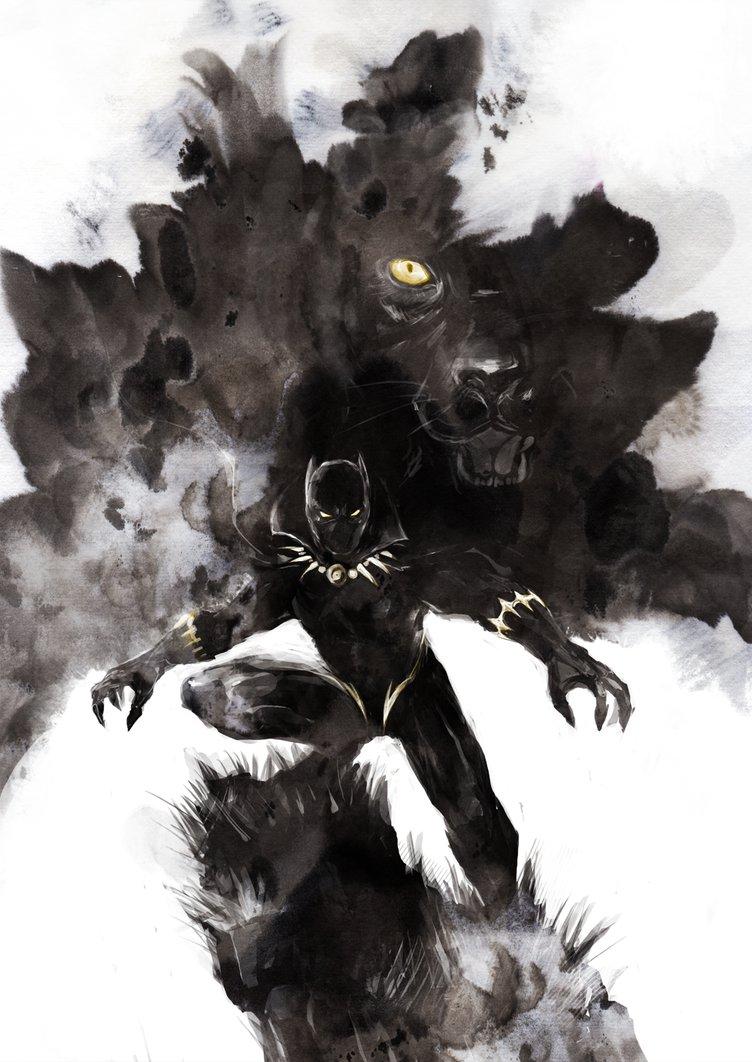 752x1062 Black Panther By Naratani