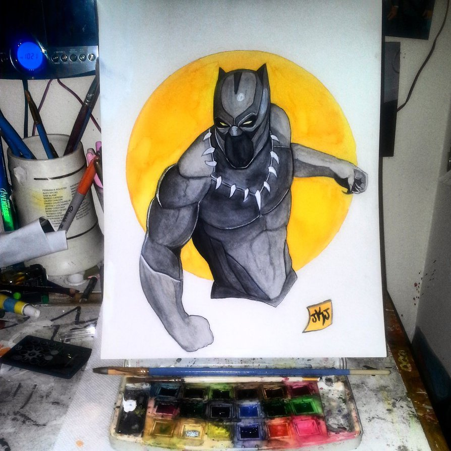 894x894 Black Panther Watercolor By Jay3681