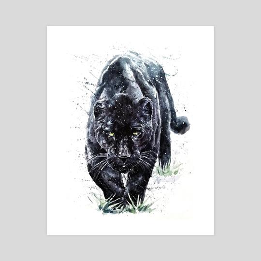 540x540 Panther Watercolor Painting Predator Animals Puma Jaguar, An Art