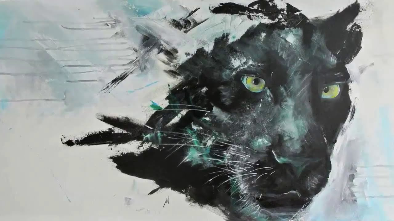 1280x720 Time Lapse Acrylic Speed Painting Black Panther