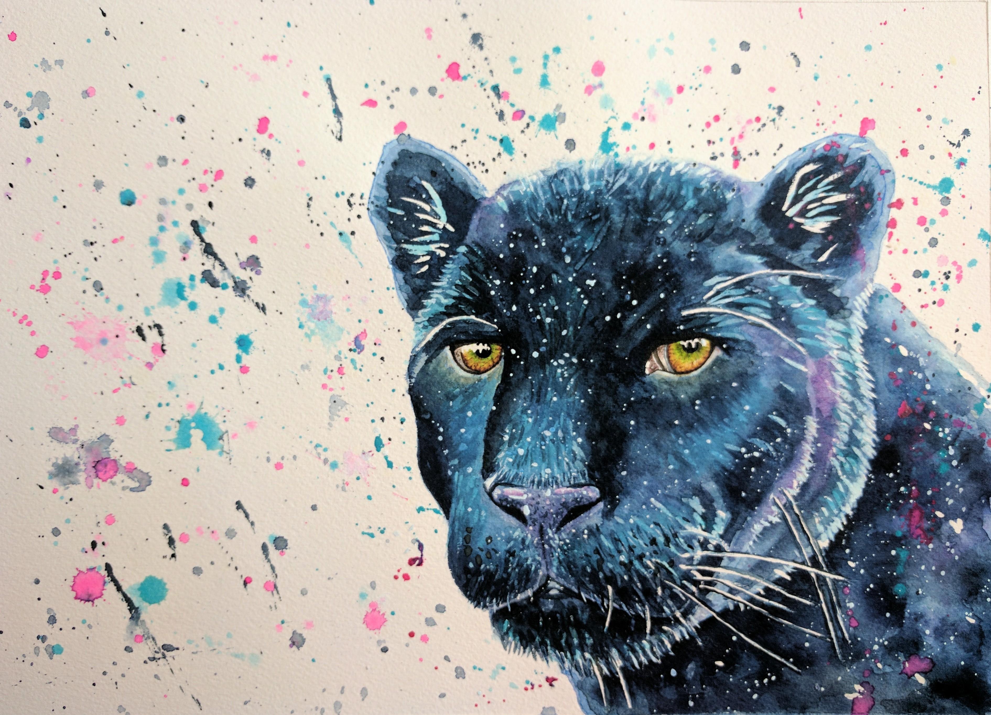 3781x2726 Watercolour Panther