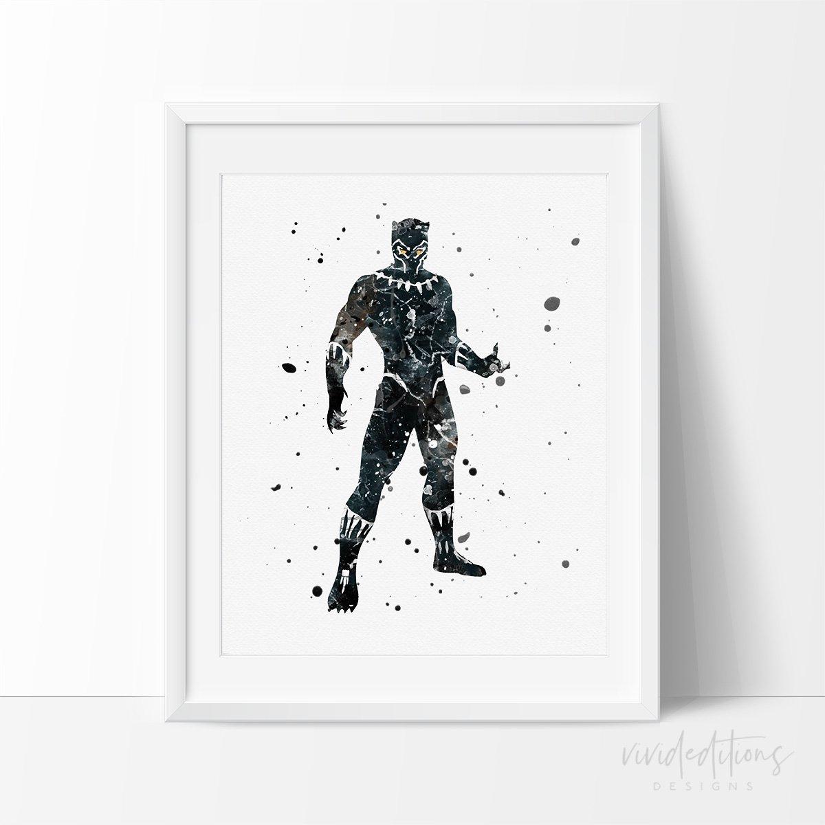 1200x1200 Black Panther Marvel Superhero Art Print Poster Nursery Wall Decor