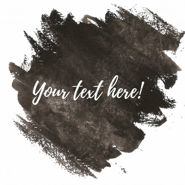 626x626 Black Watercolor Brushes With Text Template Vector Free Download