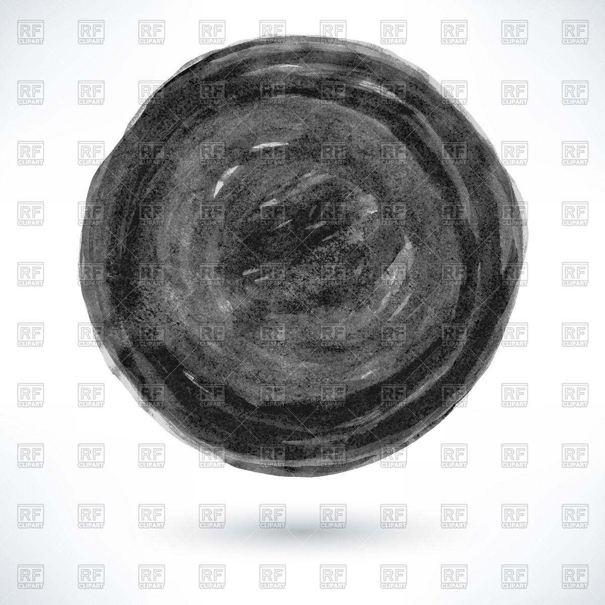 1200x1200 Black Watercolor Circle Vector Image Vector Artwork Of Design