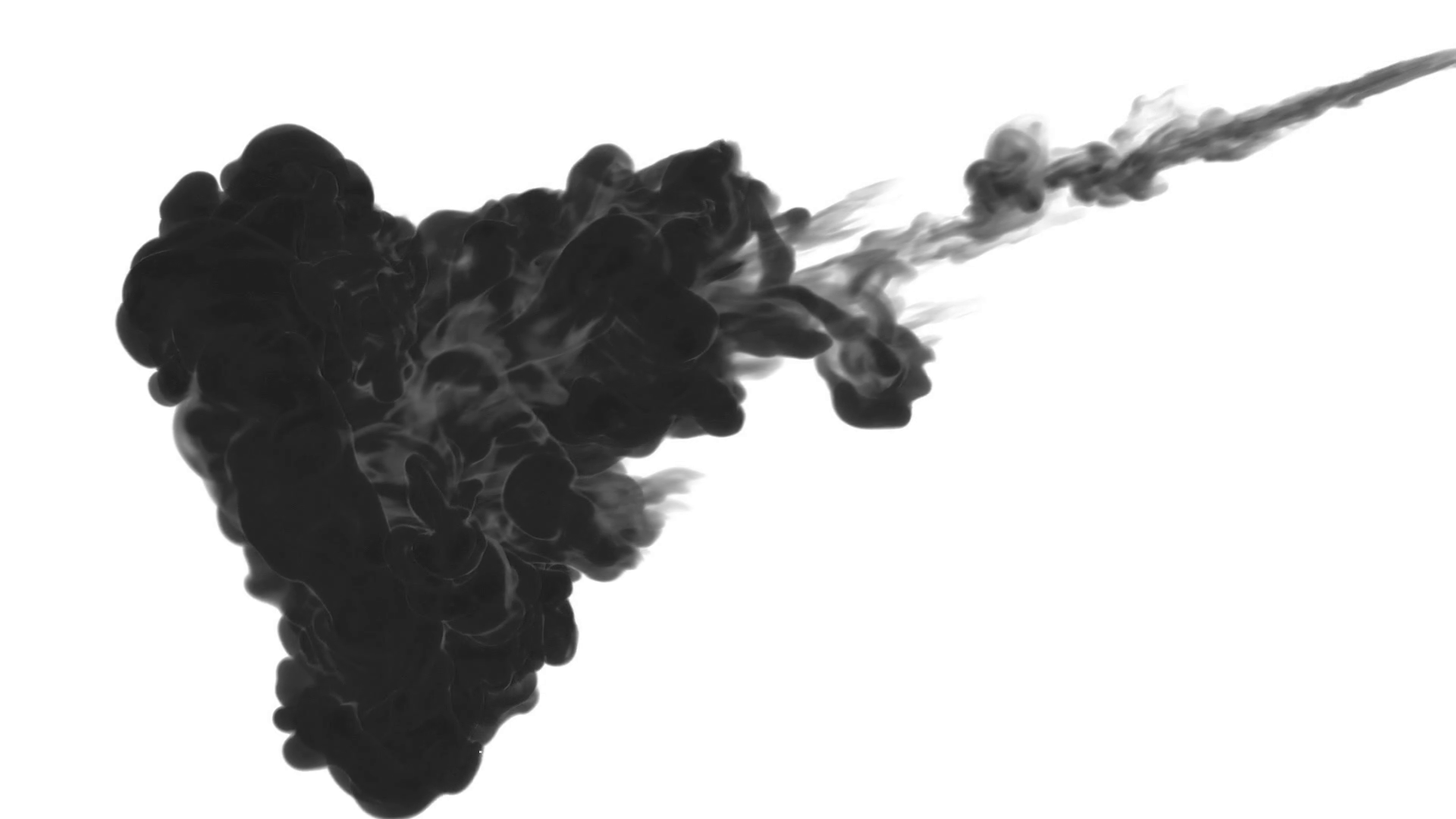 1920x1080 Ink Background For Compositing. Black Smoke Or Ink In Water Series