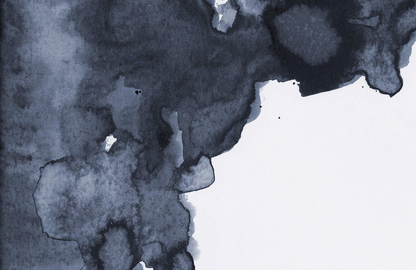 1650x1070 Navy Watercolor Wallpaper Blue Smoke Design Muralswallpaper