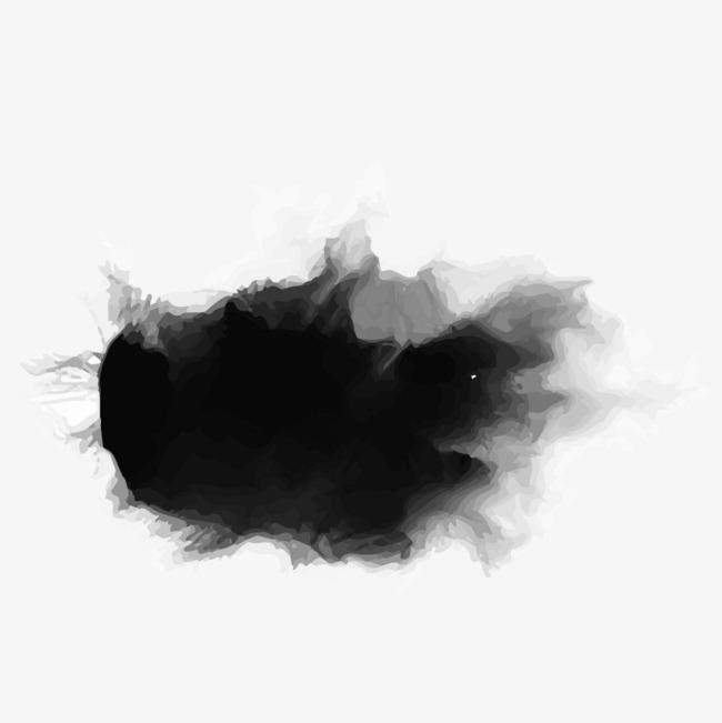 650x651 Black Watercolor Brush Strokes, Watercolor Clipart, Brush Clipart