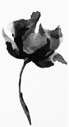 Black Watercolor Art