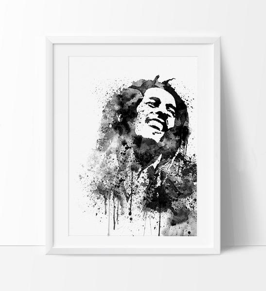 547x600 Bob Marley Art, Bob Marley Poster, Watercolor Painting, Watercolor
