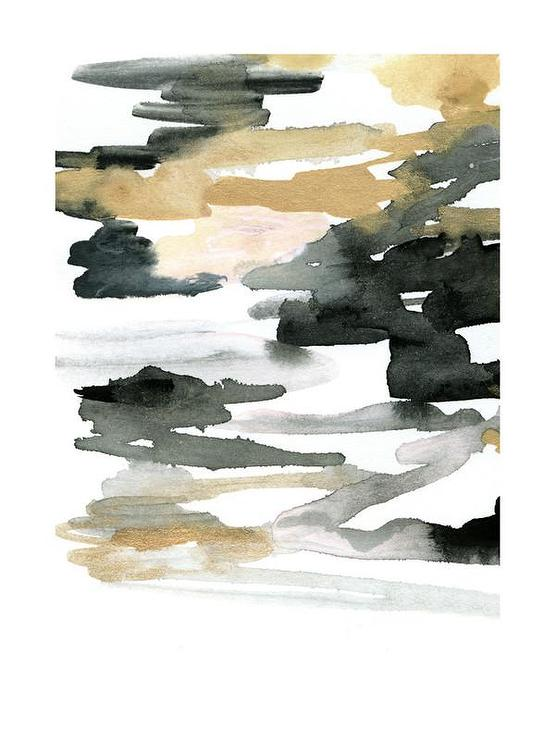 555x740 Abstract Gold And Black Watercolor Art