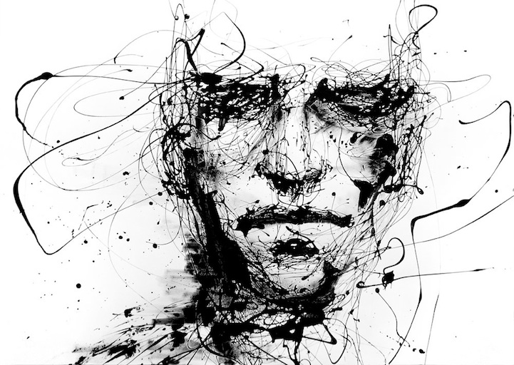 721x512 Powerful Dripping Paint Portraits By Agnes Cecile