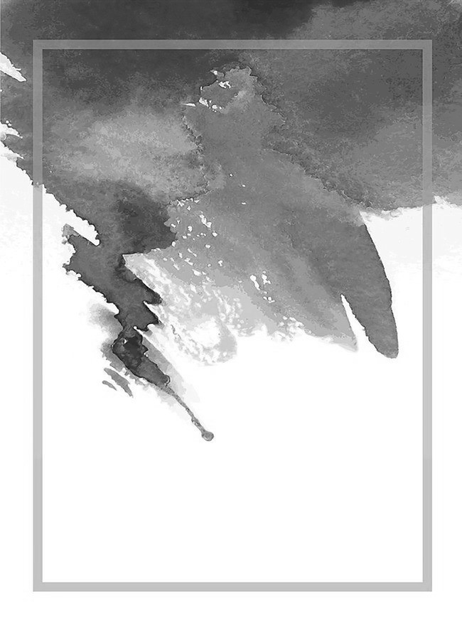 650x880 Vector Ink Watercolor Background Fresh Art Fan, Vector, Black