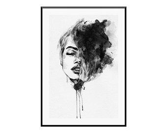340x270 Watercolor Woman Etsy