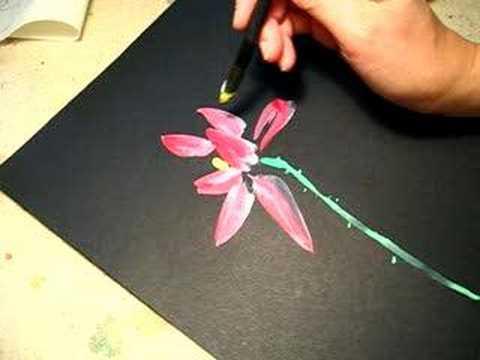 480x360 Lotus On Black Paper 1