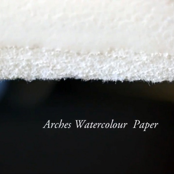 600x600 Arches 100% Rag Watercolor Paper Natural White