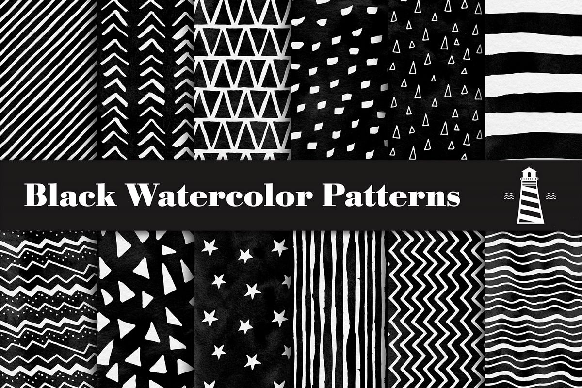 1200x800 Black Watercolor Digital Paper, Black Watercolor Patterns, Black