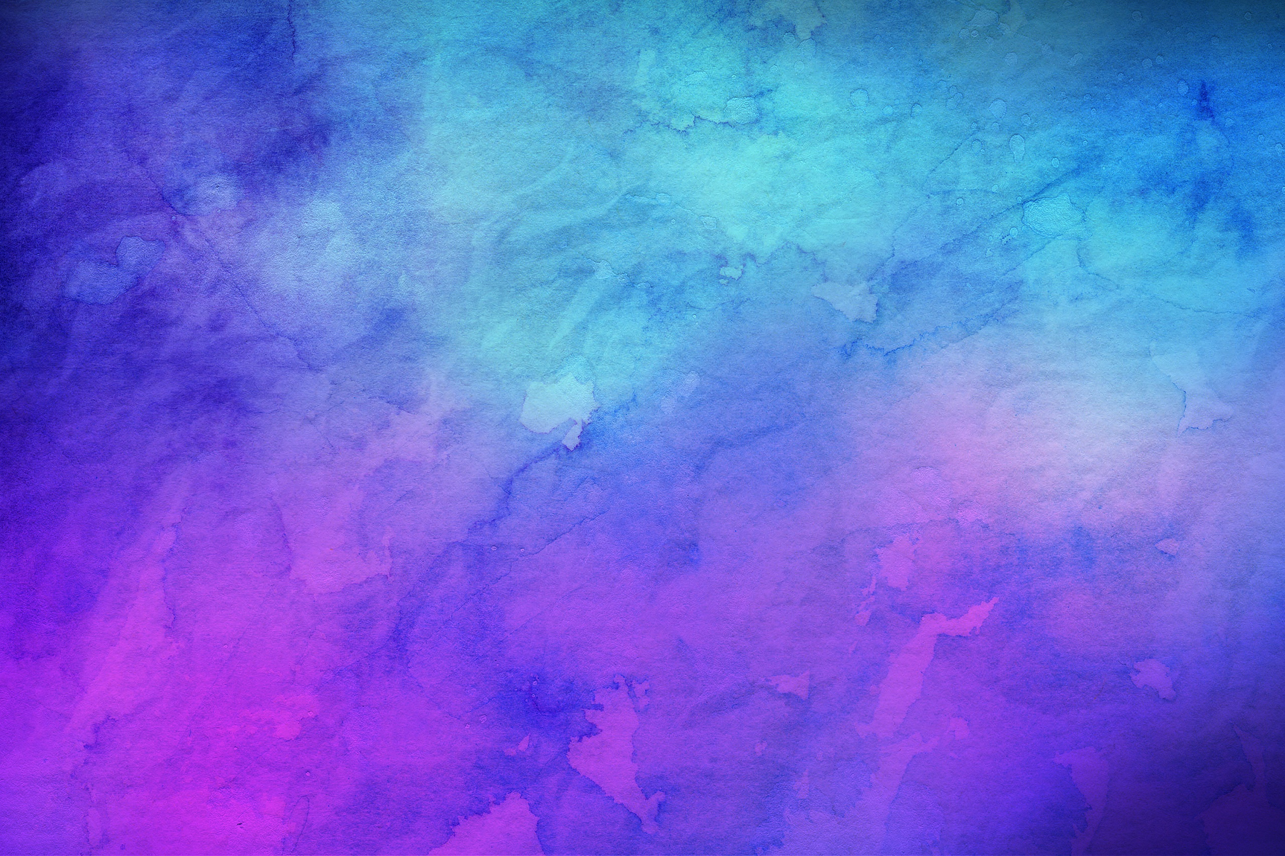 Blue And Purple Watercolor