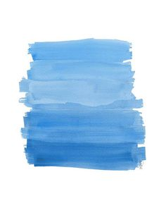 Blue And White Watercolor