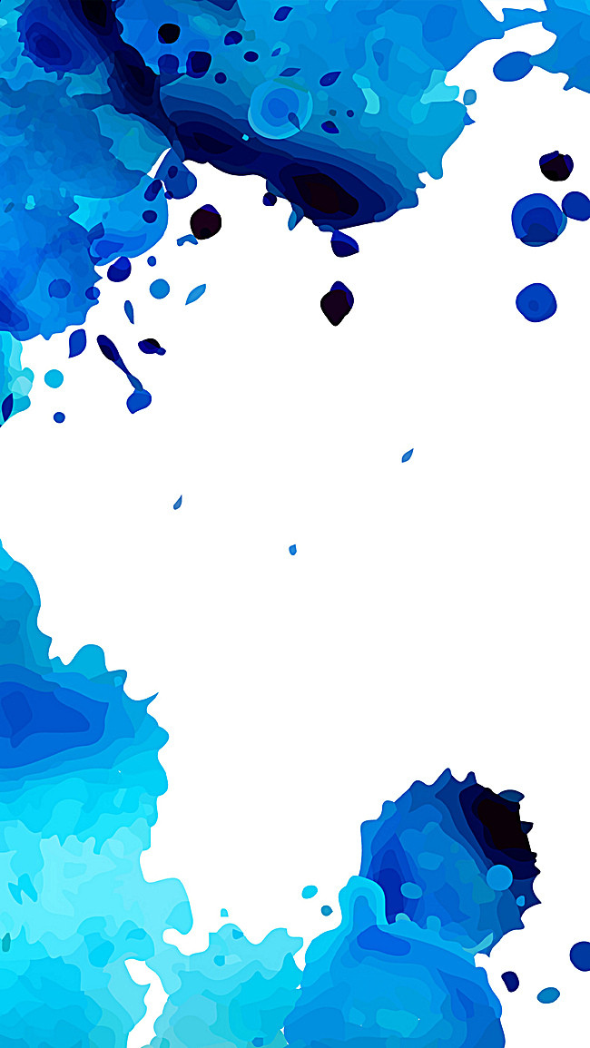 650x1155 Watercolor Background, Blue, Watercolor, White Background Image