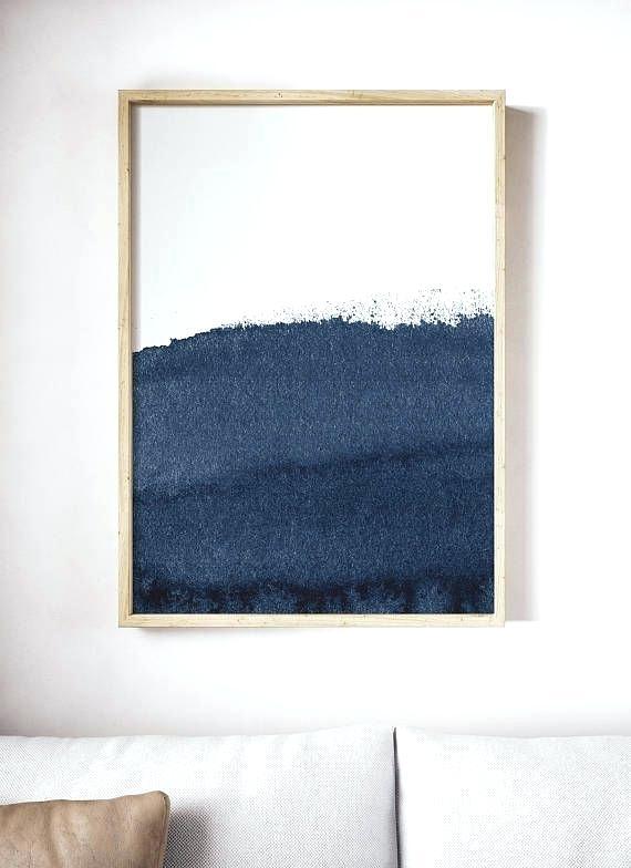 570x784 Dark Blue Wall Art Abstract Blue Painting Dark Blue Abstract Print