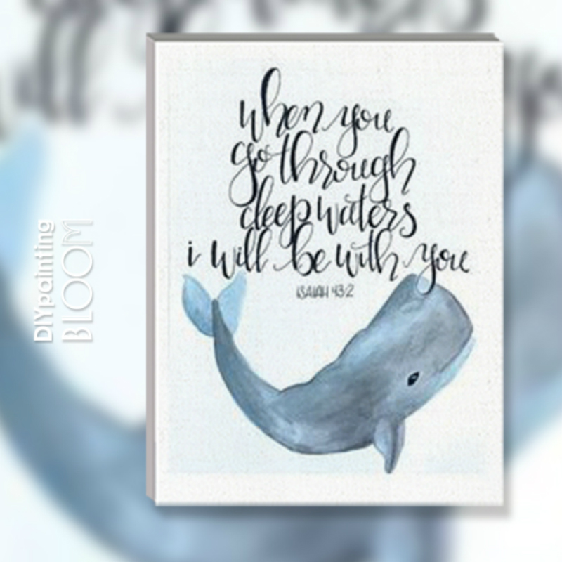 Blue Whale Watercolor