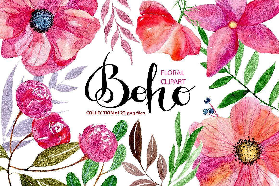 1160x772 Watercolor Boho Flowers Boho Flowers, Watercolor And Digital Art