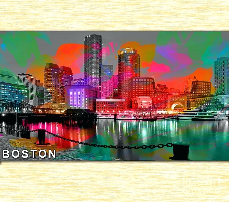 900x796 Boston Skyline Painting In Watercolor Background Image Infinitegames