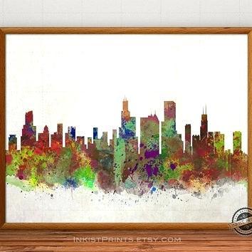 354x354 Boston Skyline Painting Painting Skyline By Dean Boston City