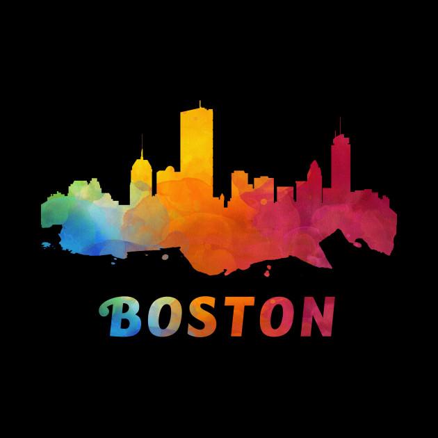 630x630 Boston Skyline Watercolor Style