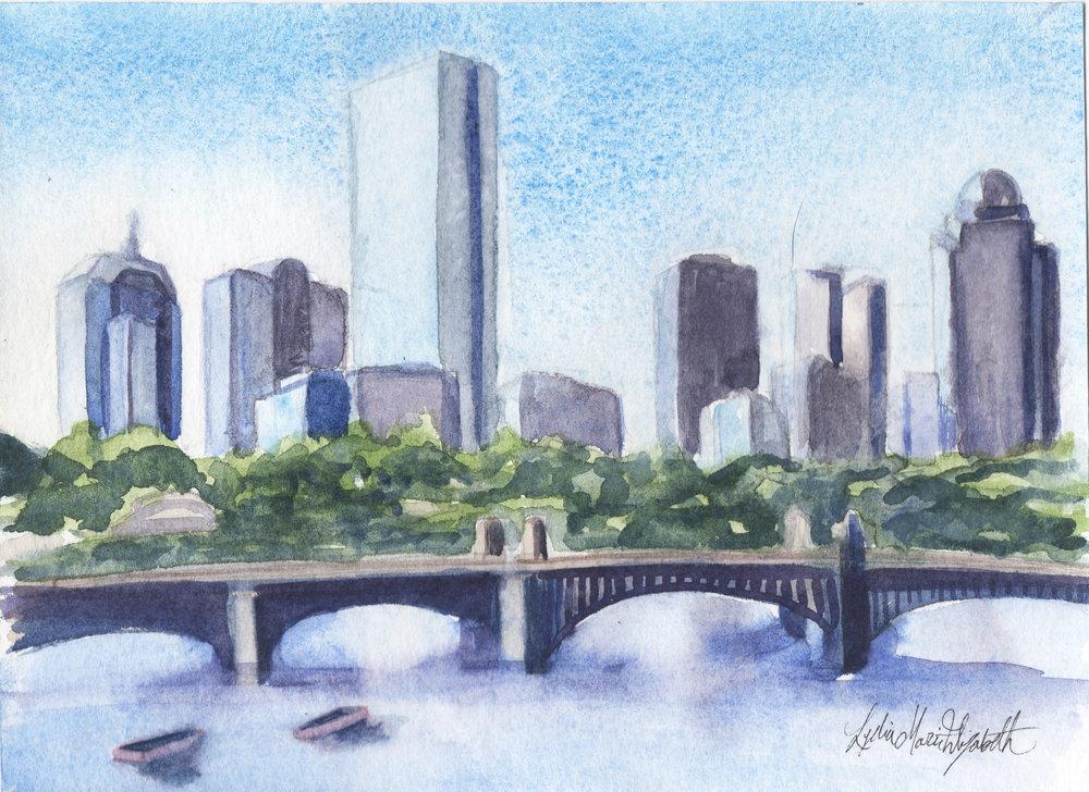 1000x728 Boston Skyline In The Midmorning Lydia Marie Elizabeth