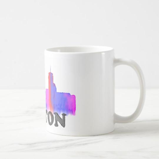 540x540 Boston Skyline Watercolor Coffee Mug